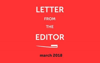 Letter from the editor 2018